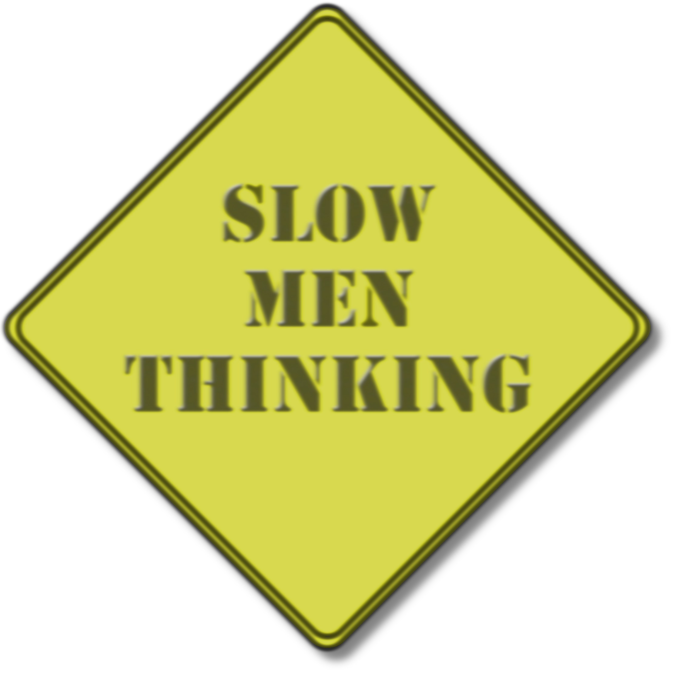 Out of focus Slow Men Thinking  background element